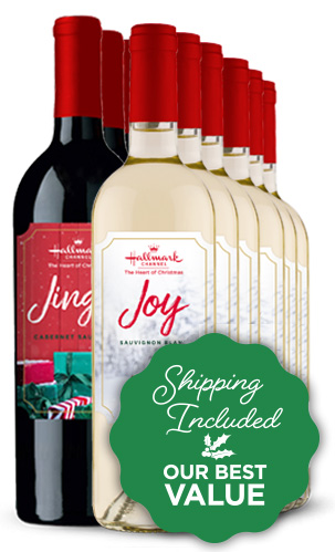 Jingle Red and Joy White Mixed 12 Bottle Case