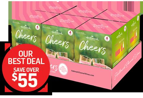 Cheers Rose Seltzer Wine 4-Pack